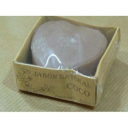 Jabón corazón, coco
