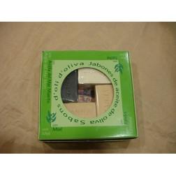 Caja 4 jabones con aceite de oliva de Palestina