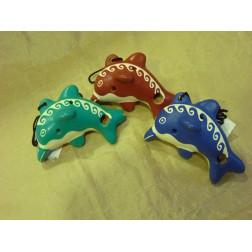 Ocarinas colgantes delfín colores surtidos