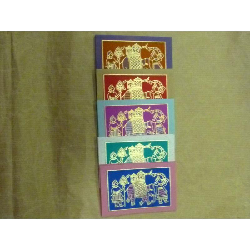 Tarjetas de regalo hechas a mano, diseño ambari