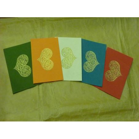 """Tarjetas de papel hecho a mano """"Bhavana"""" c/ sobres"""