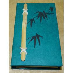Libreta diseño bambú otoñal