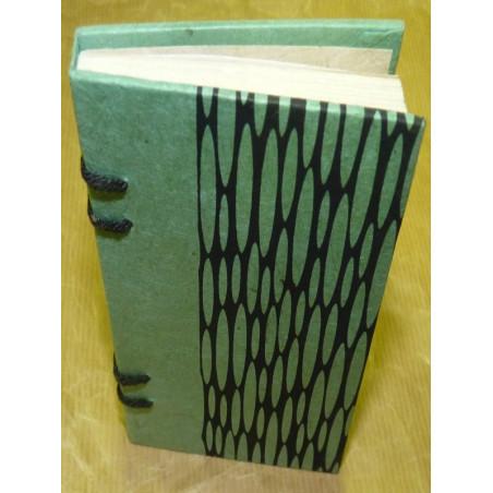 Libreta gotas decoración hilos tonos azules