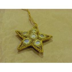 Móvil estrella con lentejuelas