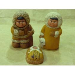 Belén esquimal, de cerámica