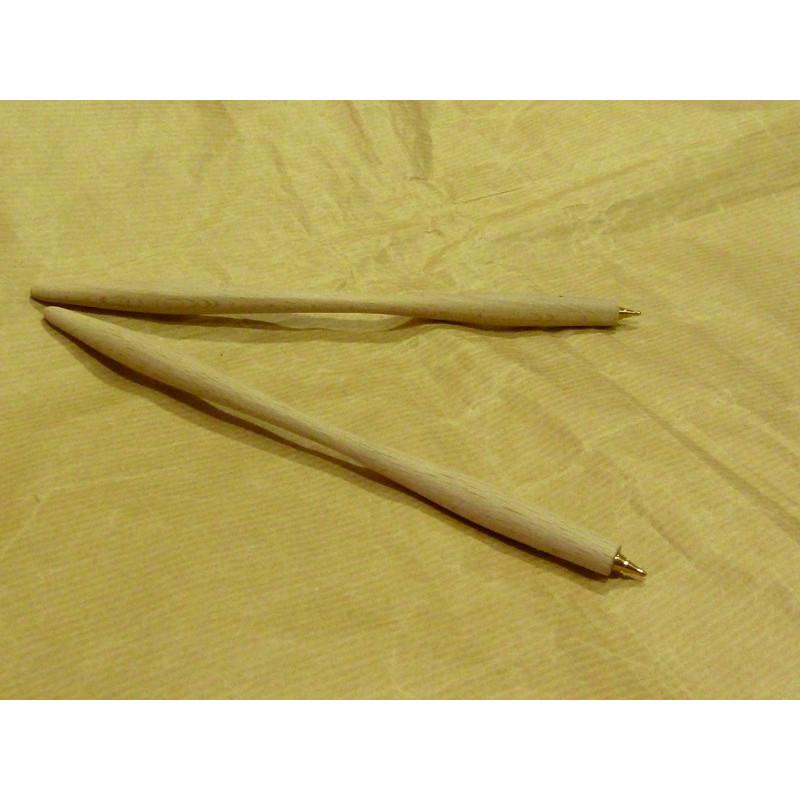 Bolígrafo curva madera