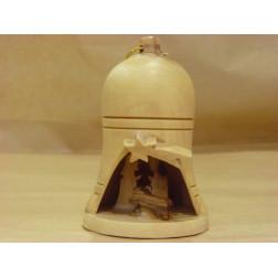 Belén en campana de madera