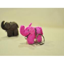 llavero elefante fieltro