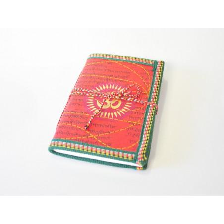 Cuaderno de color rojo diseño árabe 10x15cm