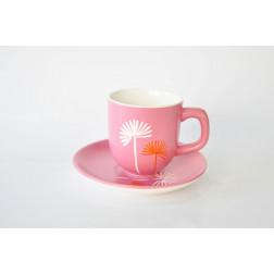 Taza de café con plato 6x5, 11 cm