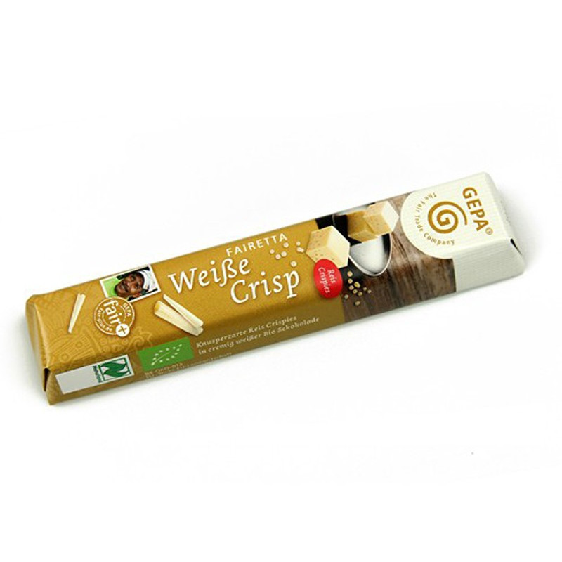 Barrita de chocolate blanco, Crisp, BIO