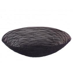 Cesta metal oval, negra 25cm