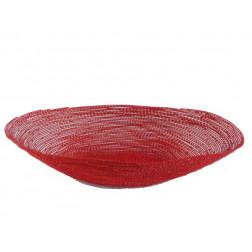 Cesta metal oval, roja 35 cm
