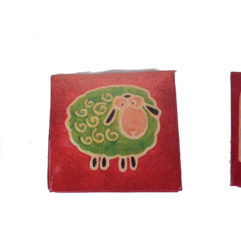 Monedero cuadrado ovejita 6,5 cm