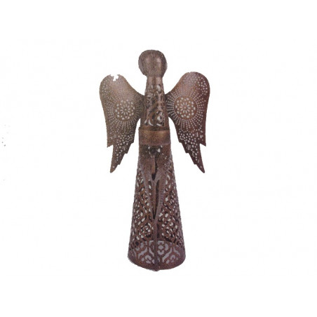 Ángel metal sujetavela 32 cm