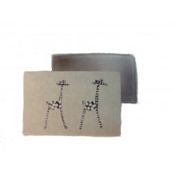 Cajita piedra, grabado girafas 7,5*5cm