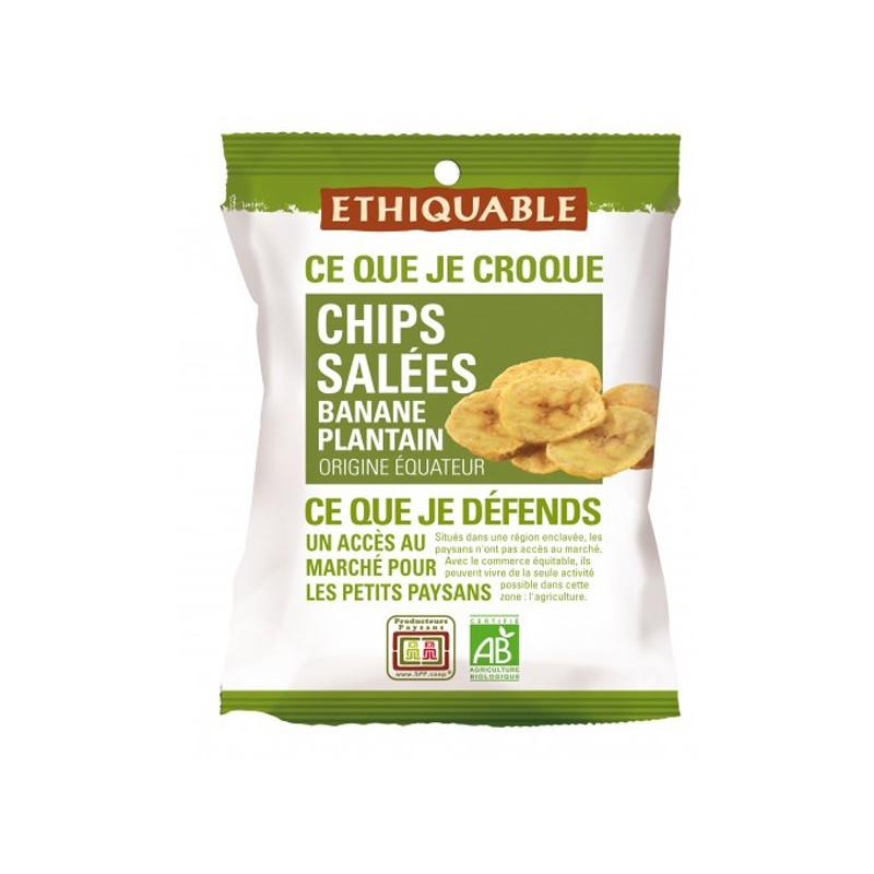 Chips de plátano salados