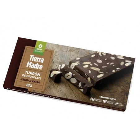 Turrón de chocolate BIO con almendras