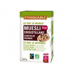Muesli Crujiente Chocolate, Quinoa, Arroz BIO 375g