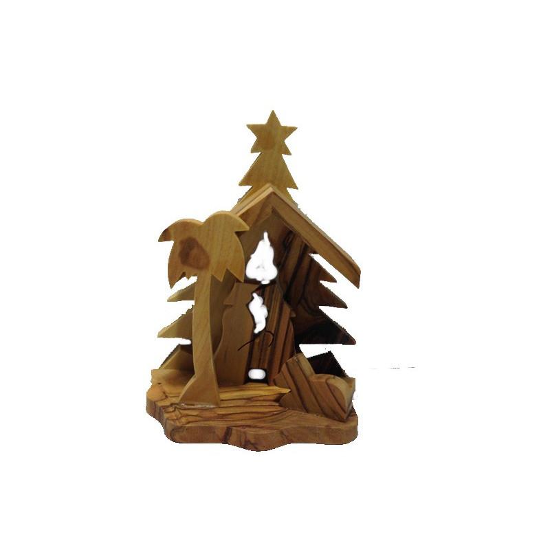 Nacimiento madera Tierra Santa 8*5,5cm