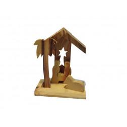 Nacimiento madera Tierra Santa 6*5,5cm