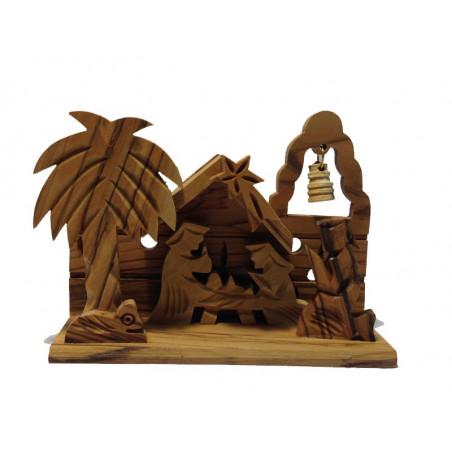 Nacimiento madera Tierra Santa 10*8cm