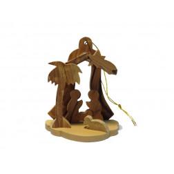 Nacimiento madera Tierra Santa 8cm
