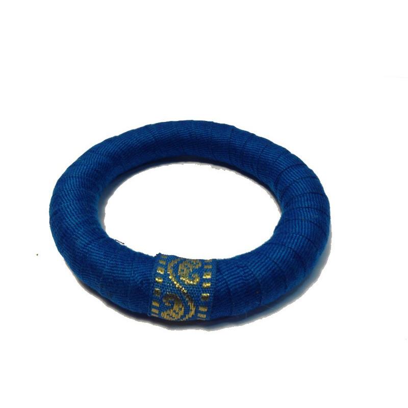 Pulsera tela reciclada azul