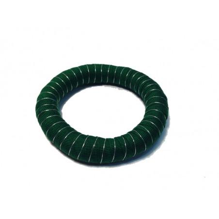 Pulsera tela reciclada, verde