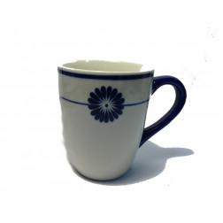 Taza ceramica decorado azul