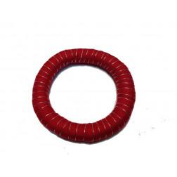 Pulsera tela reciclada roja