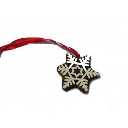 Movil madera forma estrella/copo,sello