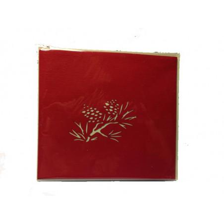 Tarjeta Navidad grabado rama