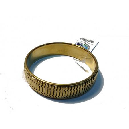 Pulsera metal dorado