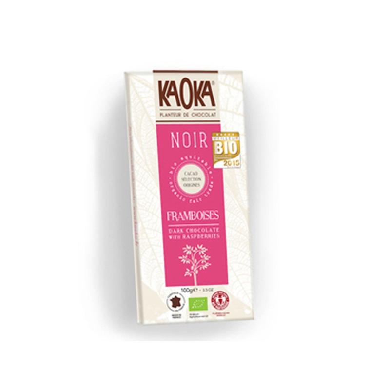 Tableta de chocolate KAOKA negro con frambuesa