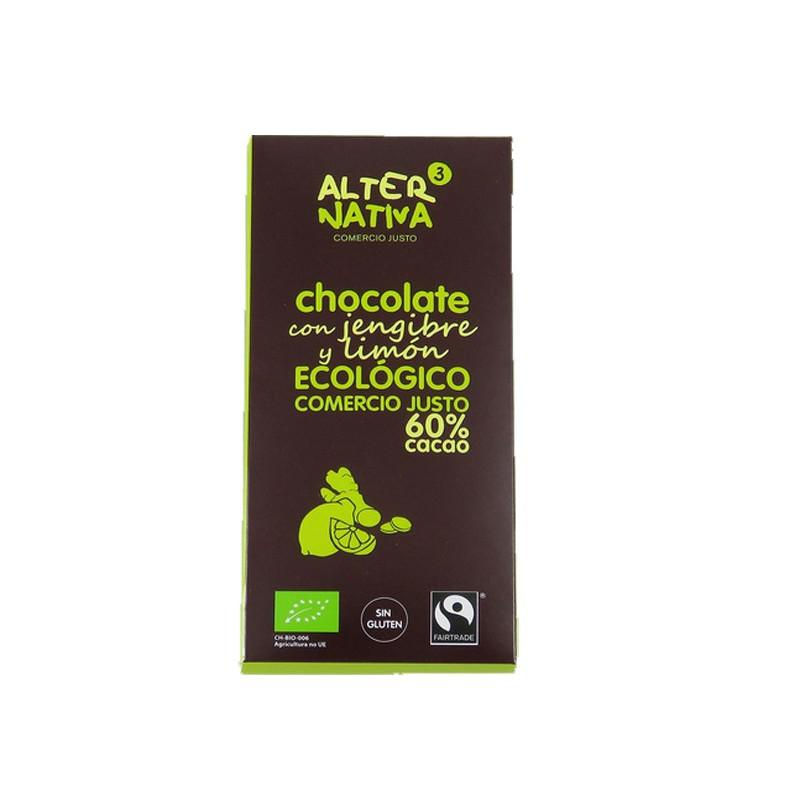 Chocolate negro con jengibre y limón