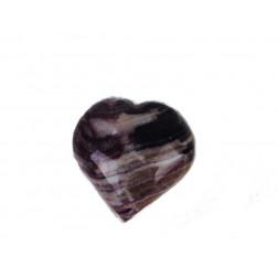 Piedra pisapapeles forma corazón, colores naturales variados