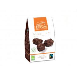 Trufas con láminas de chocolate 72% BIO