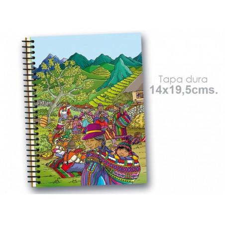 "Cuaderno 14*19.5 cm ""América Latina"""
