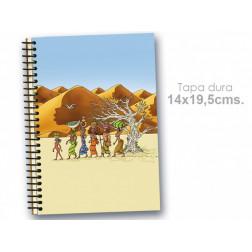 """Cuaderno 14*19.5 ce """"Mujeres dunas"""""""