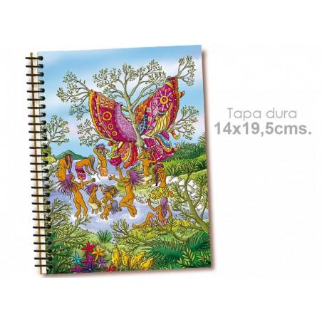 "Cuaderno 14*19.5 cm ""Mariposa"""
