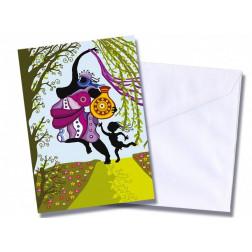"""Tarjeta/postal """"Dos mujeres"""""""