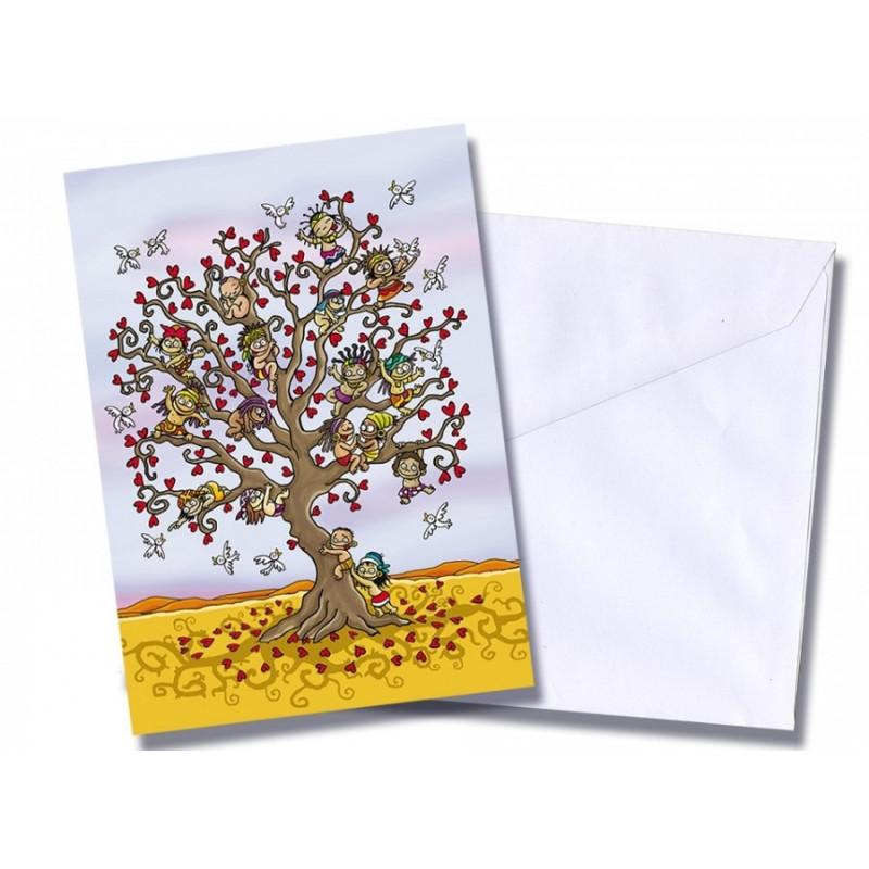 "Tarjeta/postal ""Árbol de la esperanza"""