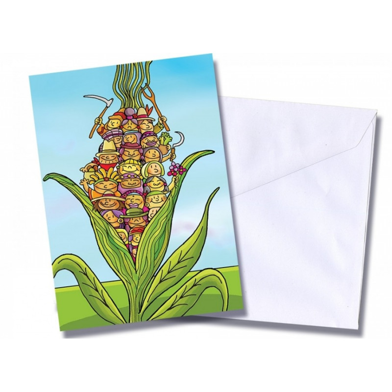 "Tarjeta/postal ""Mazorca campesina"""