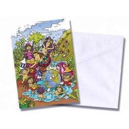 "Tarjeta/postal ""Baño"""