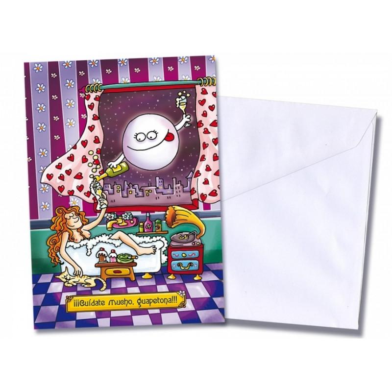 """Tarjeta/postal """"Cuídate mucho"""""""