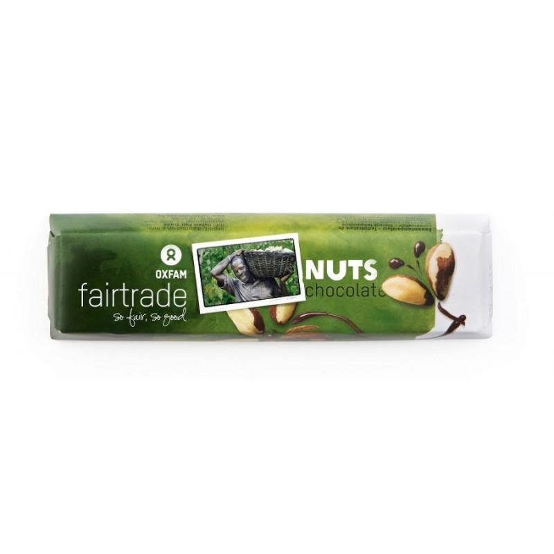 Chocolatina leche con nueces Oxfam