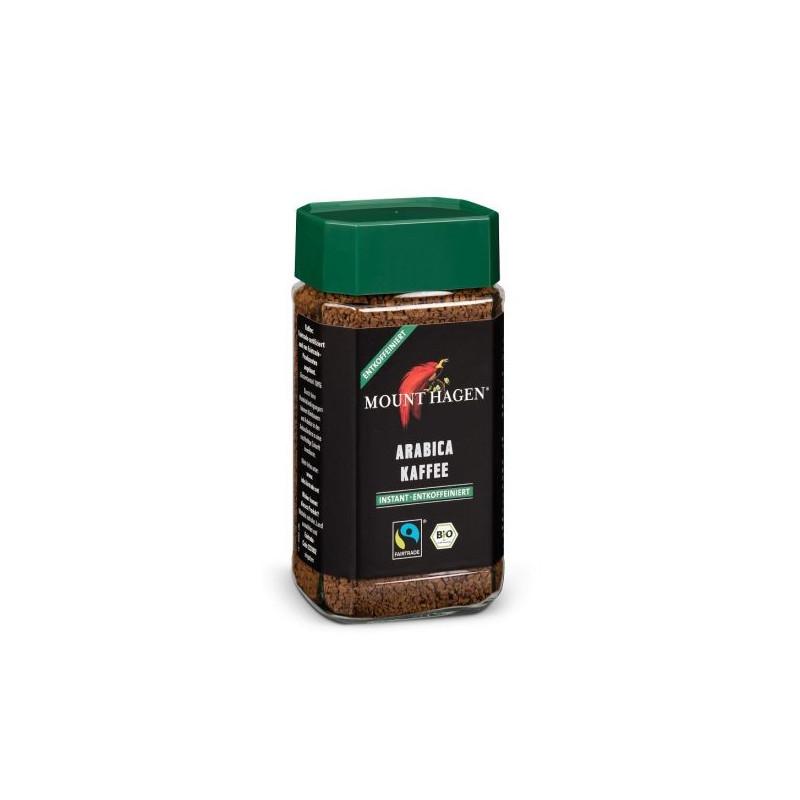 Café descafeinado liofilizado 100% arábica