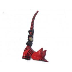 Porta-anillos de madera, forma de gato/29cm