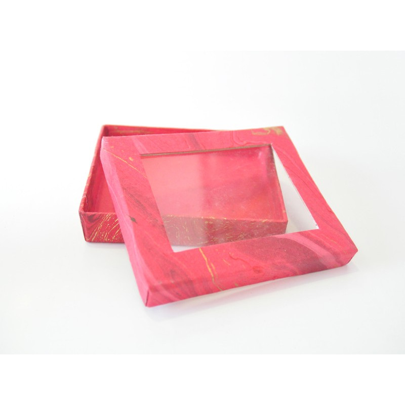 Caja de papel hecha a mano 12*10*2.5 cm